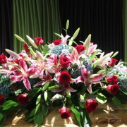 Floral arrangement at Melaleuca Station Memorial Gardens